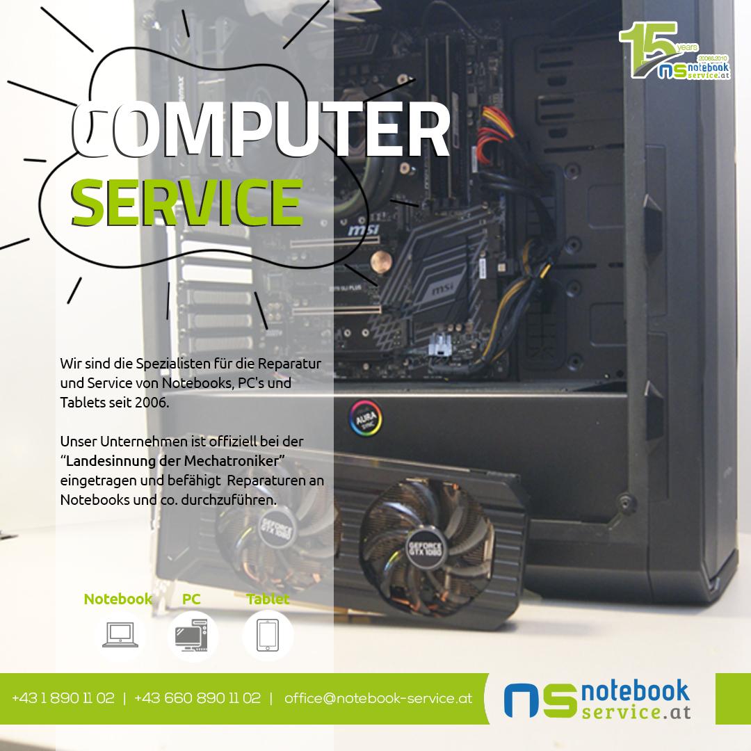 Computer Service bei Notebook Service Wien