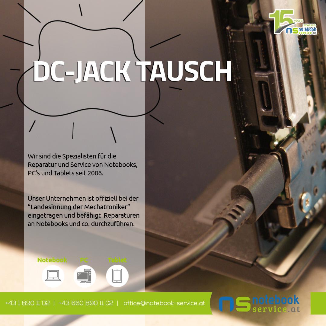 DC-Jack tausch bei Notebook Service Wien