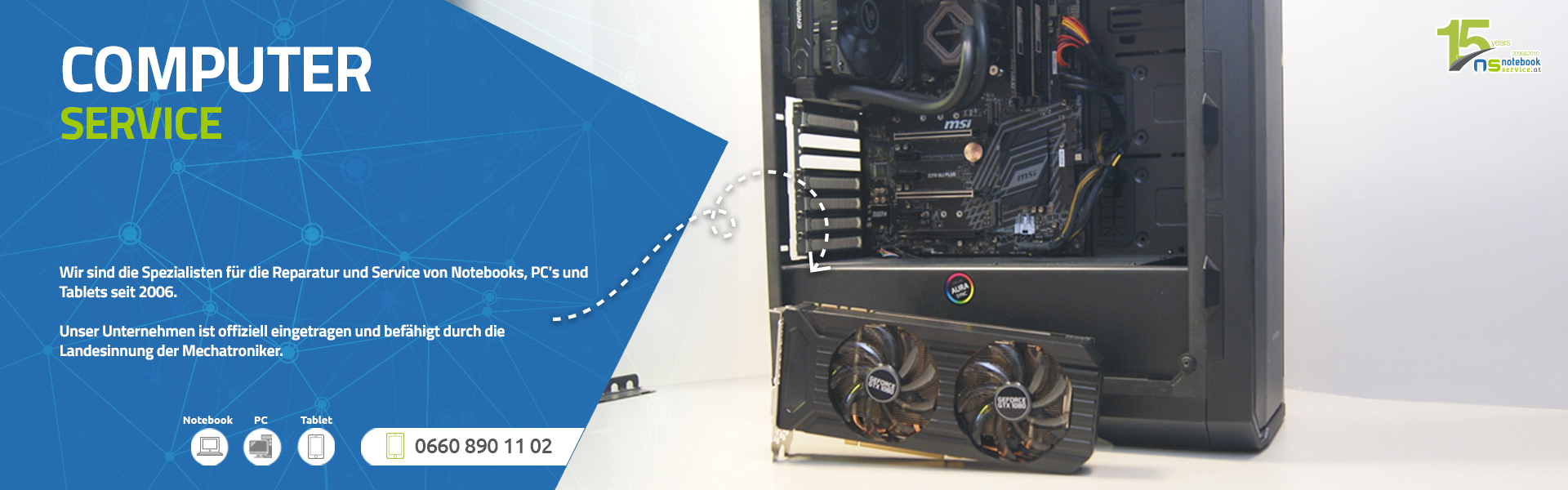 Computer und PC Service bei Notebook Service Wien